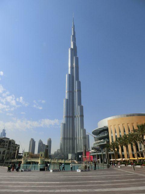 ブルジュカリファを望むテラスでランチ@The Address Downtown Dubai