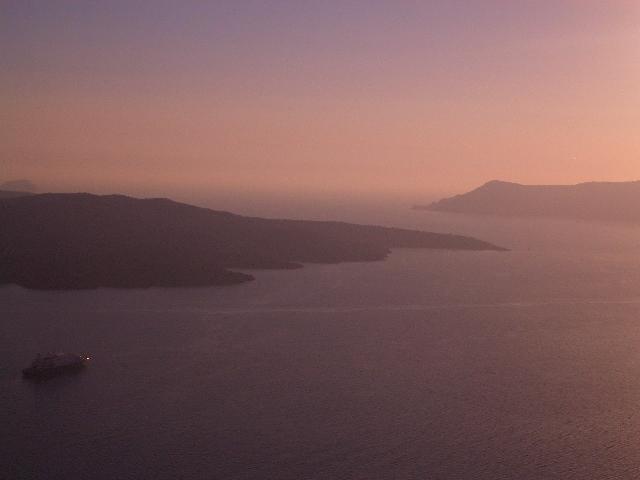 サントリーニ島、ネアカメニ&パレアカメニ