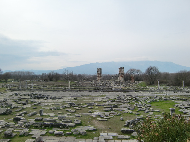 ギリシャ北部、マケドニア地方のフィリピ遺跡