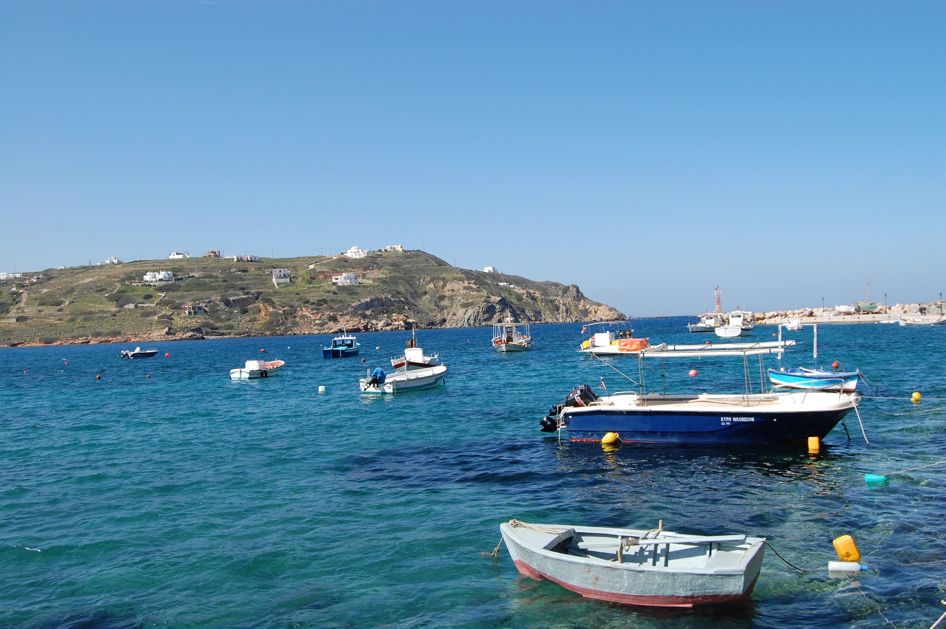 シロス島をドライブ
