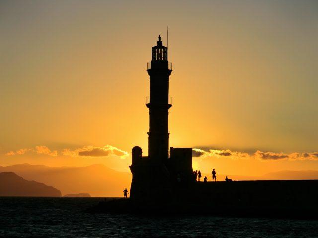 クレタ島ハニアの夕陽をヴェネツィアンポートで♪