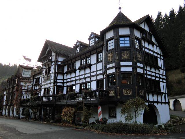 ドイツの森の中のホテルは鹿の角だらけだった!Hotel Jagdhof Glashutte