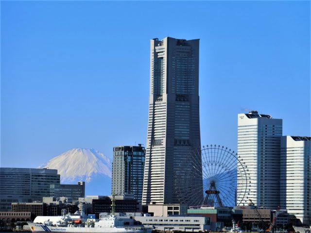 富士山が綺麗!横浜港ランチクルーズ