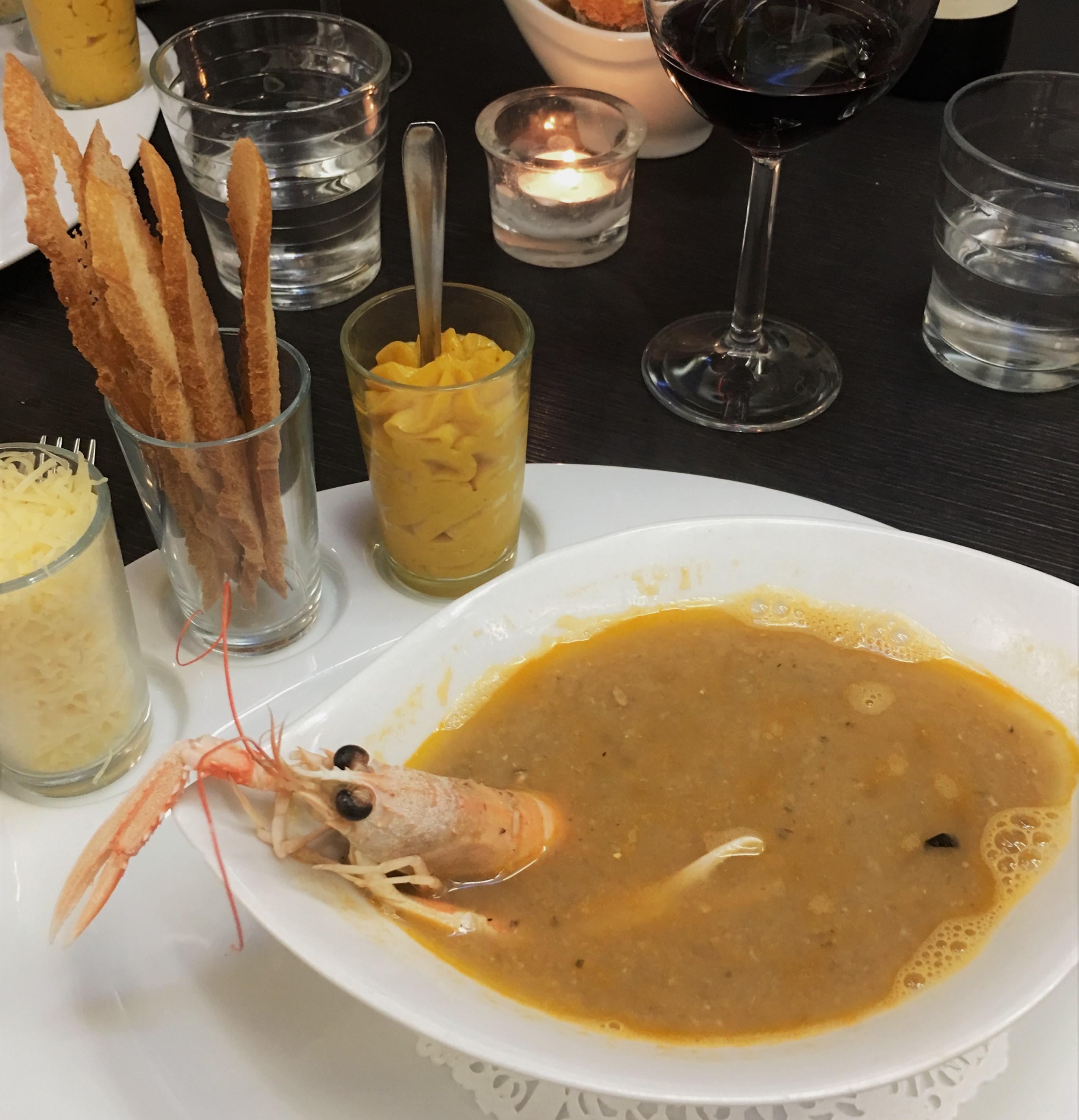 ビアリッツで美味しいフィッシュスープ@Le Galion