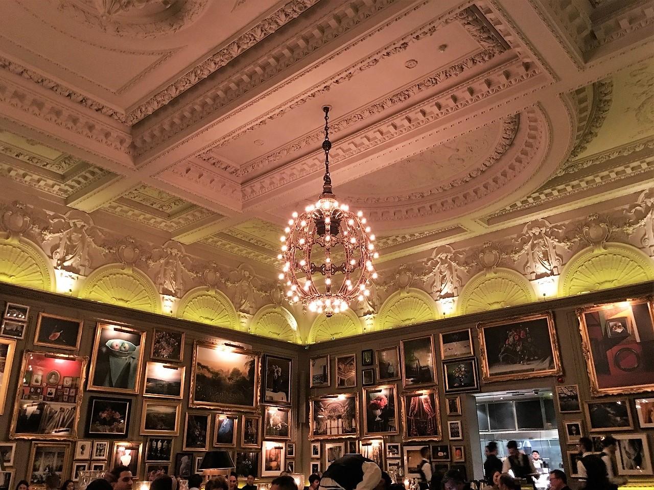 ザ ロンドン エディションのBerners Tavernでディナー