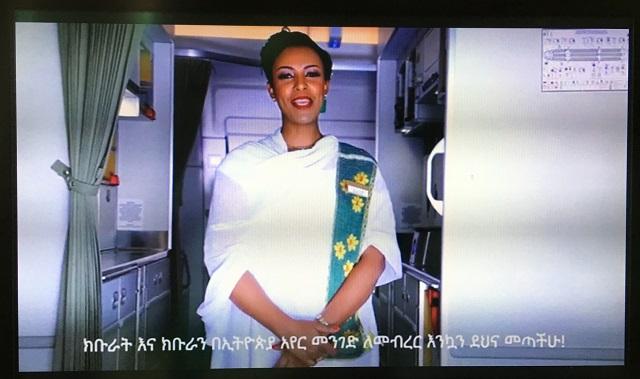 エチオピア航空ドリームライナーのビジネスクラスでウインドフックからブリュッセルへ