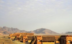 世界最古のナミブ砂漠の中にあるクララ デザート ロッジのお部屋
