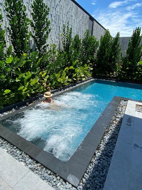 バラックスホテル、ガーデンスィートのセミ プライヴェートプール