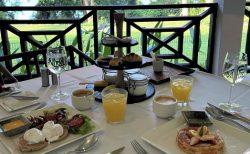 緑が一杯のテラスで朝ごはん@タマリンドヒル、ヴィラ サマディ シンガポール
