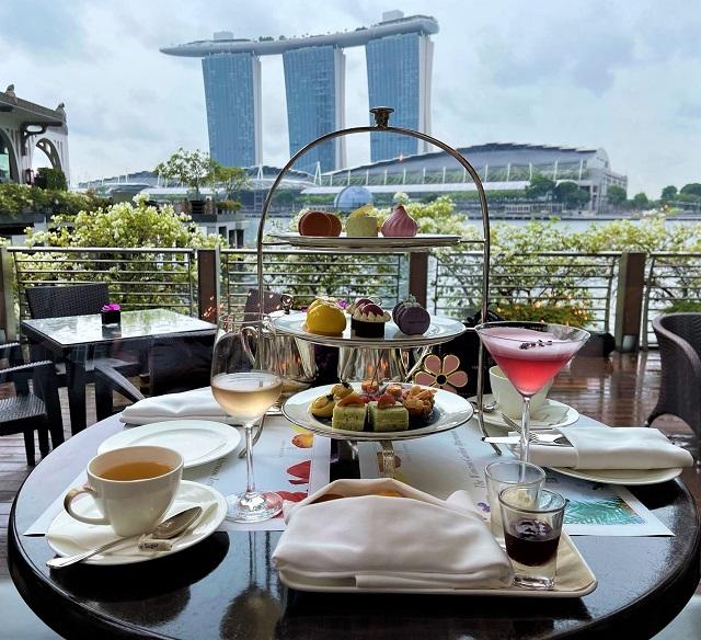 シンガポールでハリーウィンストンとのコラボアフタヌーンティー@フラトン ベイ ホテル